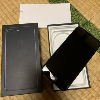 アップル(Apple)のiPhone7plusジェットブラック128GB(スマートフォン本体)