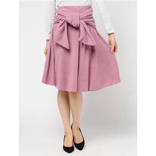 スナイデル(snidel)の新品 タグ付き 可愛い♡ snidel ミドル ニットライク スカート(ひざ丈スカート)