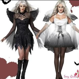コスプレ 天使 小悪魔 ハロウィン衣装(衣装一式)