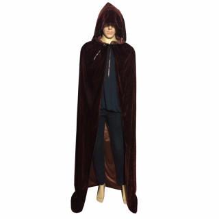 ハロウィン コスプレ フード付きマント 魔女 死神  [ブラウン](衣装)
