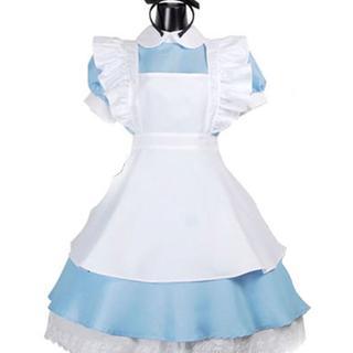 ふしぎの国のアリス メイド 風 アリス コスチューム レディース フリーサイズ(衣装一式)