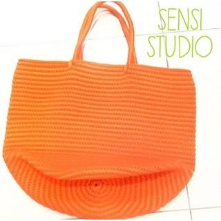 SENSI  STUDIO     オレンジバッグ   🌟大人気🌟(トートバッグ)