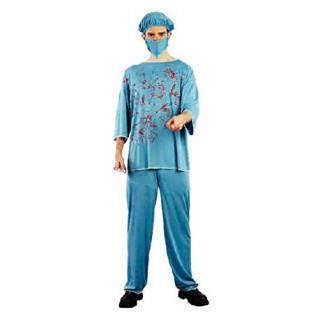 タトゥーシール付き コスプレ 血まみれ 医者  ゾンビ [ドクター] ハロウィン(衣装一式)