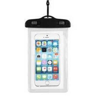 MC103 スマートフォン用防水ケース お風呂&水中操作可能♪透明(ネックレス)
