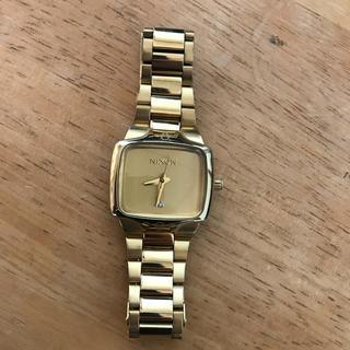 ニクソン(NIXON)のNIXON ニクソン レディース  腕時計 ウォッチ クォーツ ゴールド 中古(腕時計)