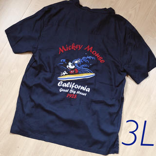 ディズニー(Disney)の【新品・タグ付】サイズ3L*ディズニー ミッキー 刺繍 アロハシャツ  Tシャツ(シャツ)