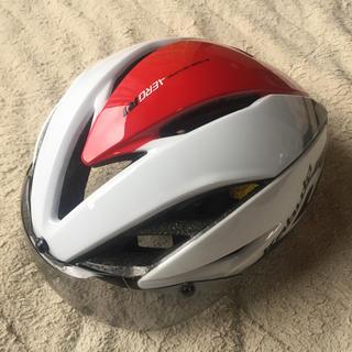 オージーケー(OGK)の新品 OGK AERO R-1 エアロヘルメット ホワイトレッド 各サイズ(ウエア)