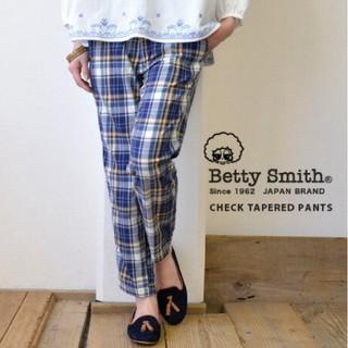 ベティスミス(Betty Smith)のベティスミス チェック柄 テーパードパンツ(カジュアルパンツ)