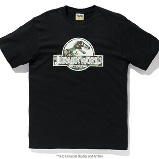 アベイシングエイプ(A BATHING APE)の未開封 XXL BAPE JURASSIC WORLD TEE Black(Tシャツ/カットソー(半袖/袖なし))