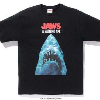 アベイシングエイプ(A BATHING APE)の未開封 BAPE JAWS TEE L ジョーズ エイプ Black(Tシャツ/カットソー(半袖/袖なし))