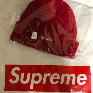シュプリーム(Supreme)のsupreme Loose Gauge Beanie  ニット帽 赤 18fw(ニット帽/ビーニー)