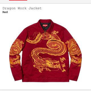 シュプリーム(Supreme)の激レア Supreme Dragon Work Jacket Red S(ナイロンジャケット)