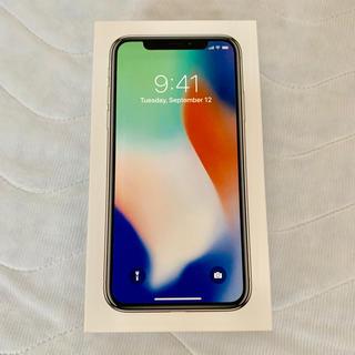 アップル(Apple)のiPhone X シルバー/256MB SIMフリー(スマートフォン本体)
