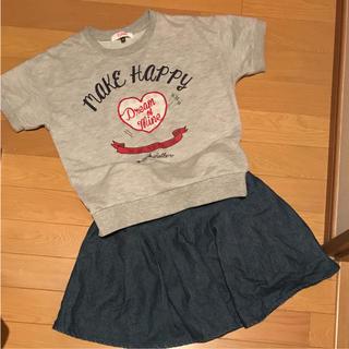 ピンクラテ(PINK-latte)のピンクラテ スカート 150  Tシャツ 140  女の子(Tシャツ/カットソー)