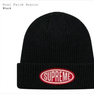 シュプリーム(Supreme)のSupreme Oval Patch Beanie black(ニット帽/ビーニー)