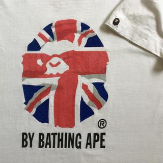 アベイシングエイプ(A BATHING APE)の希少 A BATHING APE エイプ ユニオンジャック柄 tシャツ(Tシャツ/カットソー(半袖/袖なし))