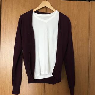 MUJI (無印良品) - 無印 セットコーデ カーディガン&長袖白シャツ