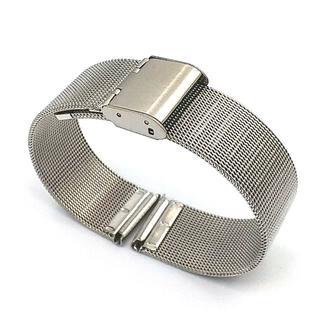 汎用 ステンレスメッシュ ベルト シルバー ベルト幅18mm(金属ベルト)