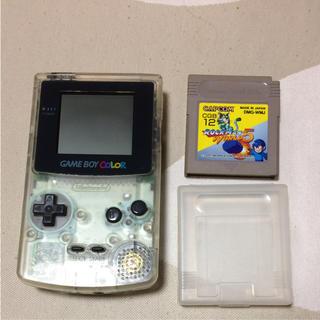 ニンテンドウ(任天堂)のゲームボーイカラー ロックマンワールド5(携帯用ゲーム本体)