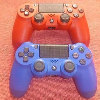 PlayStation4 - PS4 コントローラー デュアルショック4 CUH-ZCT2J 赤 青 セット