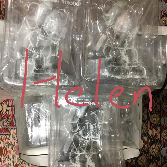 MEDICOM TOY(メディコムトイ)の即納 カウズ KAWS PASSING THROUGH 茶 灰 黒 9個セット エンタメ/ホビーのフィギュア(その他)の商品写真
