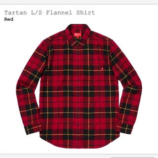シュプリーム(Supreme)のSUPREME TARTAN L/S FLANNEL SHIRT RED M(シャツ)