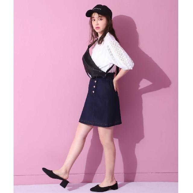 one after another NICE CLAUP(ワンアフターアナザーナイスクラップ)のデニムスカート レディースのスカート(ミニスカート)の商品写真