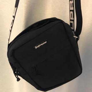 シュプリーム(Supreme)の18SS Supreme Logo Shoulder Bag 黒 美品(ショルダーバッグ)