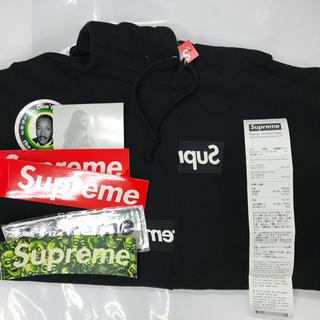 シュプリーム(Supreme)のsupreme split box logo hooded sweatshirt(パーカー)