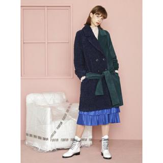 ファーファー(fur fur)の新作 furfur デザイン コート 定価45000円(ロングコート)