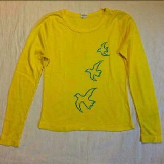 ノックアウト(KNOCKOUT)のアンティークロンT☆鳥☆黄色(Tシャツ(長袖/七分))