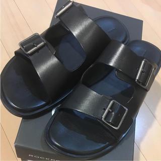 adidas - サンダル レザー 黒