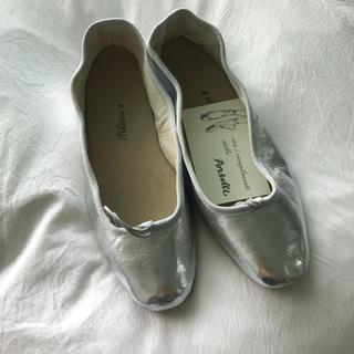 アーペーセー(A.P.C)のporselli 39 silver(バレエシューズ)