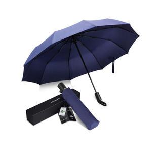 10本骨 折りたたみ傘 ブルー(傘)