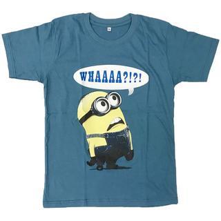 怪盗グルー ミニオン プリントTシャツ ネイビー Lサイズ 男女兼用(Tシャツ/カットソー(半袖/袖なし))