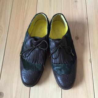 アンドエー(And A)のハラコドレスシューズ(ローファー/革靴)