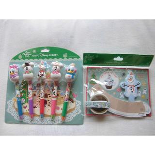 ディズニー(Disney)のSweet Christmas2015 ボールペンセットとメモ&マスキングテープ(ペン/マーカー)