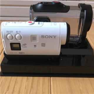 ソニー(SONY)のソニー アクションカメラ(ライブビューリモコン付き)ハードケース付き(ビデオカメラ)