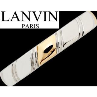 ランバン(LANVIN)のランバン Pt900 プラチナ K18 メンズ リング 指輪 スマート 16号(リング(指輪))