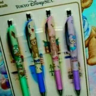 ディズニー(Disney)のディズニーリゾート ダッフィー&フレンズ ボールペン4本セット(ペン/マーカー)