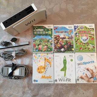 Wii - Wii 本体 ホワイト 訳あり ソフトつき  セット お得