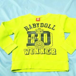 ベビードール(BABYDOLL)のBABYDOLL 110cm かすれロゴ トレーナー(Tシャツ/カットソー)
