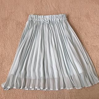 ジーユー(GU)のミントグリーン ひざ下プリーツスカート 110cm(スカート)