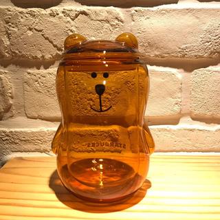 ベアリスタ 蓋付き ダブルウォールグラスカップ 琥珀 340ml