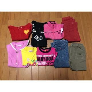 ベビードール(BABYDOLL)の100  ブランドあり、長袖、長ズボン、まとめ売り9点(Tシャツ/カットソー)