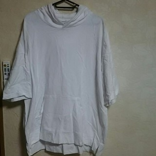 ジーユー(GU)のGUパーカーオーバーシャツ(Tシャツ/カットソー(半袖/袖なし))