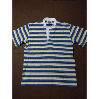バーバリアン(Barbarian)のBARBARIAN/バーバリアン 半袖ラガシャツ メンズM 黄×青(ポロシャツ)