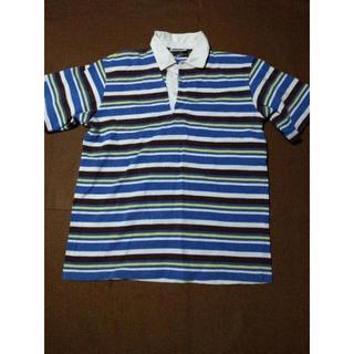 バーバリアン(Barbarian)のBARBARIAN/バーバリアン 半袖ラガシャツ メンズM ブルー(ポロシャツ)