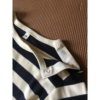 MUJI (無印良品) - MUJI 無印良品 ボーダー長袖Tシャツ 80㎝