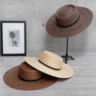 ルームサンマルロクコンテンポラリー(room306 CONTEMPORARY)のroom306  Wide Straw Boater Hat(麦わら帽子/ストローハット)